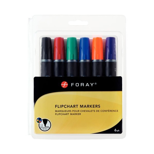 Foray flipchart marker 6 színű készlet
