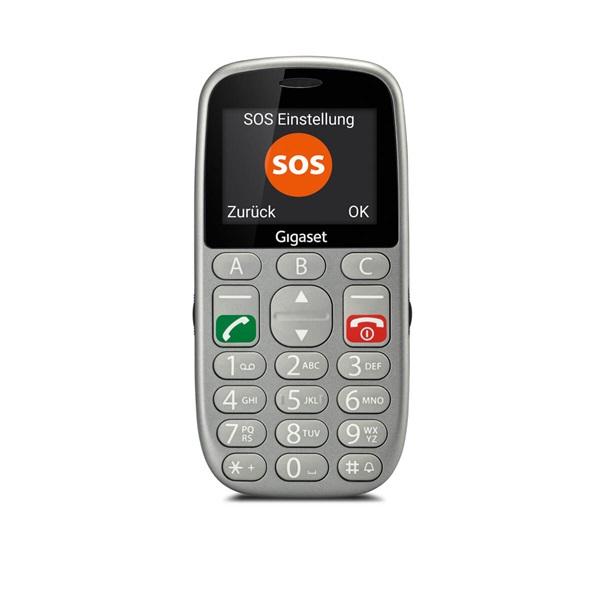 """Gigaset GL390 2,2"""" Dual SIM ezüst mobiltelefon"""