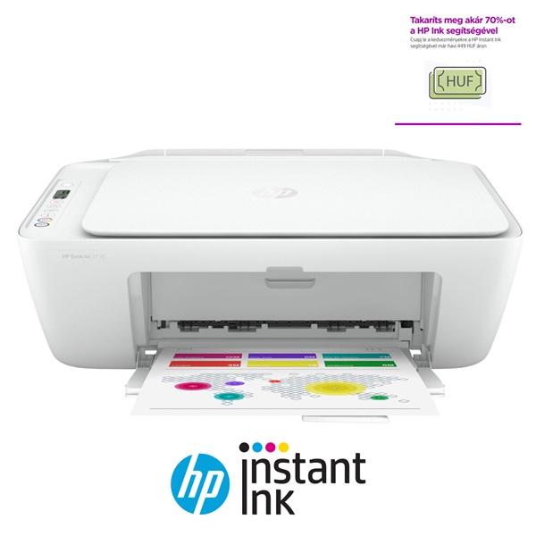 HP DeskJet 2710E tintasugaras multifunkciós Instant Ink ready nyomtató - 1