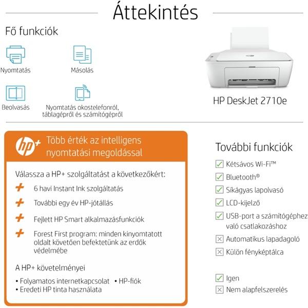 HP DeskJet 2710E tintasugaras multifunkciós Instant Ink ready nyomtató - 9