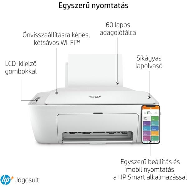 HP DeskJet 2710E tintasugaras multifunkciós Instant Ink ready nyomtató - 23