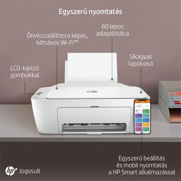 HP DeskJet 2710E tintasugaras multifunkciós Instant Ink ready nyomtató - 24