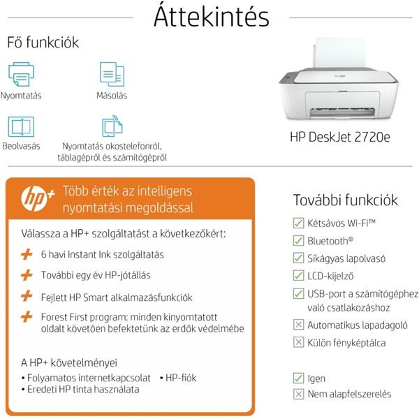 HP DeskJet 2720E tintasugaras multifunkciós Instant Ink ready nyomtató - 9