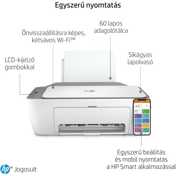 HP DeskJet 2720E tintasugaras multifunkciós Instant Ink ready nyomtató - 24