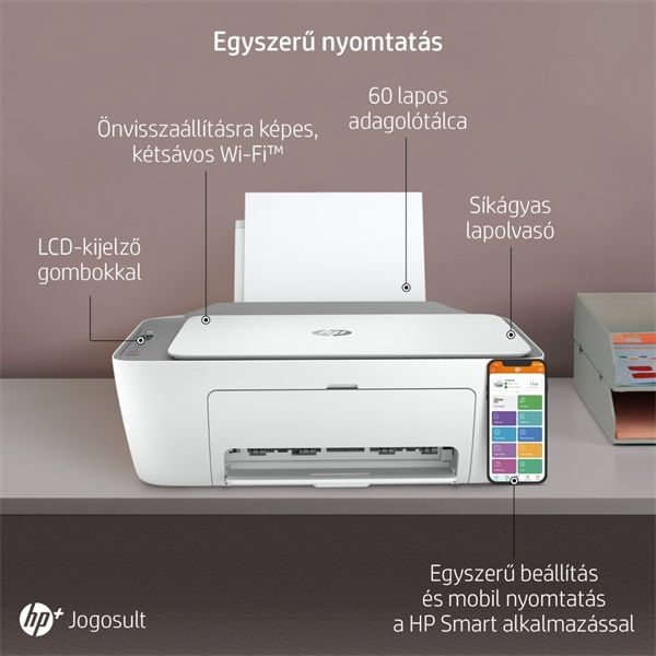 HP DeskJet 2720E tintasugaras multifunkciós Instant Ink ready nyomtató - 25
