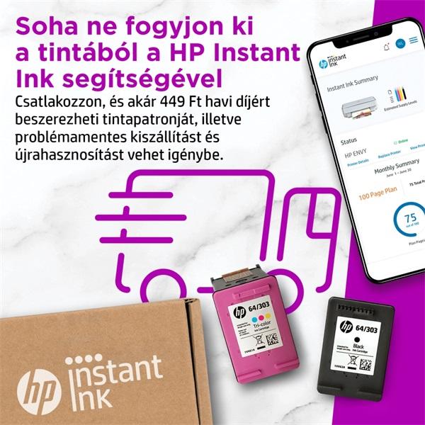HP Envy 6020E AiO multifunkciós tintasugaras Instant Ink ready nyomtató - 36