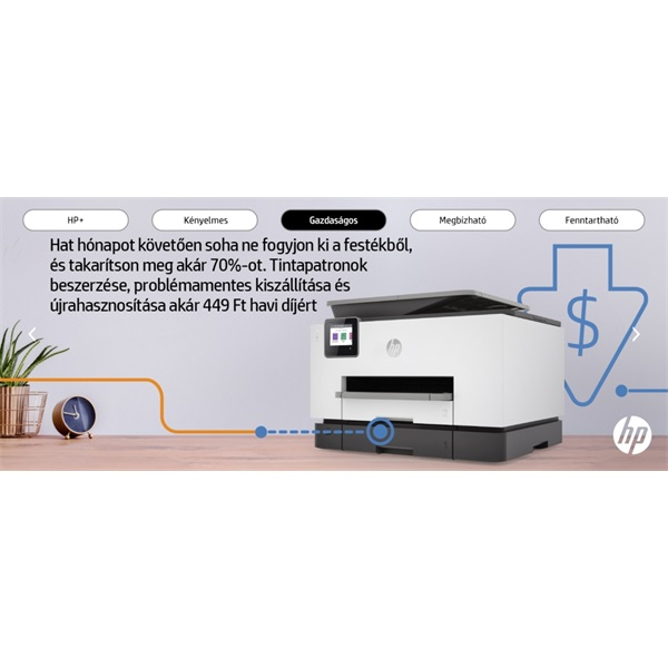 HP OfficeJet Pro 9022E All-in-One multifunkciós tintasugaras Instant Ink ready nyomtató - 24