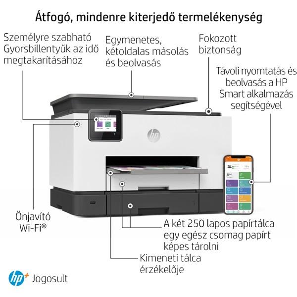 HP OfficeJet Pro 9022E All-in-One multifunkciós tintasugaras Instant Ink ready nyomtató - 27