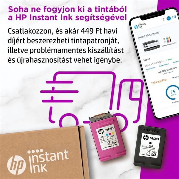 HP OfficeJet Pro 9022E All-in-One multifunkciós tintasugaras Instant Ink ready nyomtató - 12