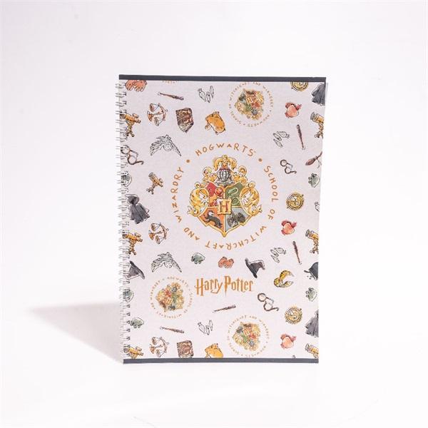 Harry Potter A4 80 lapos vonalas spirálfüzet - 1