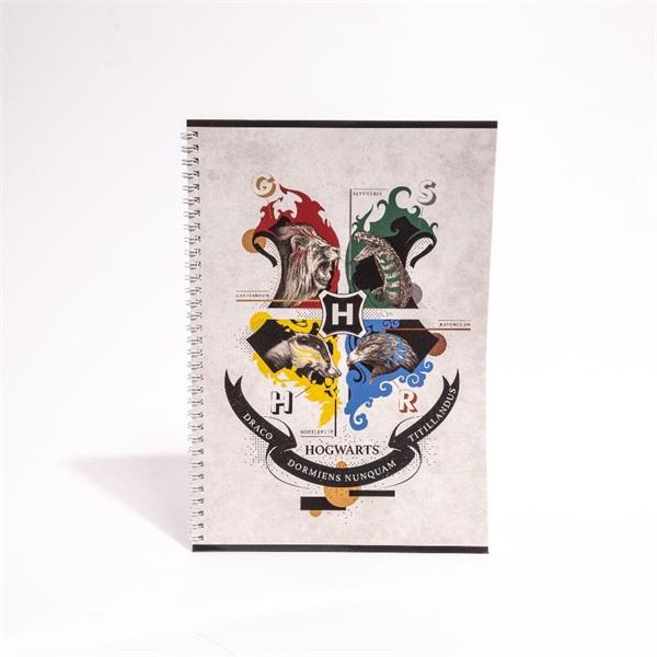 Harry Potter A4 80 lapos vonalas spirálfüzet - 4