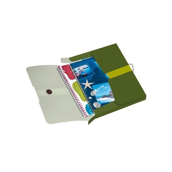Herlitz Easy PP újrafelhasznált műanyag zöld füzetbox - 1