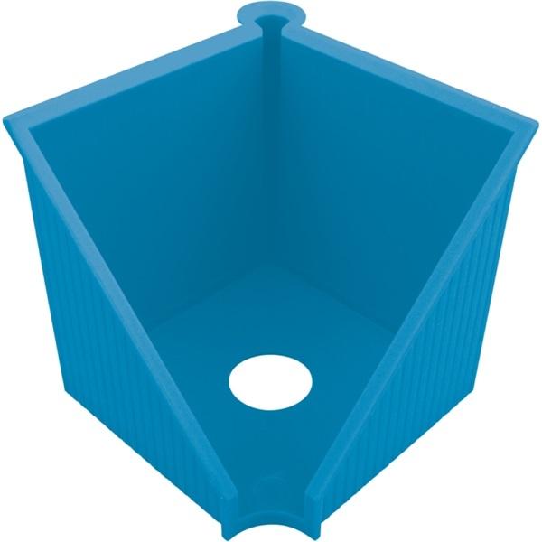 Herlitz GREENline 10x10cm intenzív kék kockablokktartó - 1