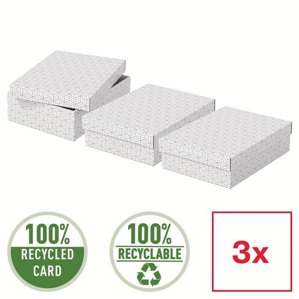 Home 3db/csomag fehér ajándék/tárolódoboz - 5