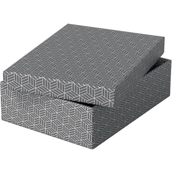 Home 3db/csomag szürke ajándék/tárolódoboz - 2