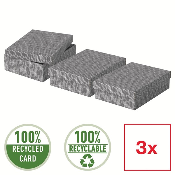 Home 3db/csomag szürke ajándék/tárolódoboz - 5