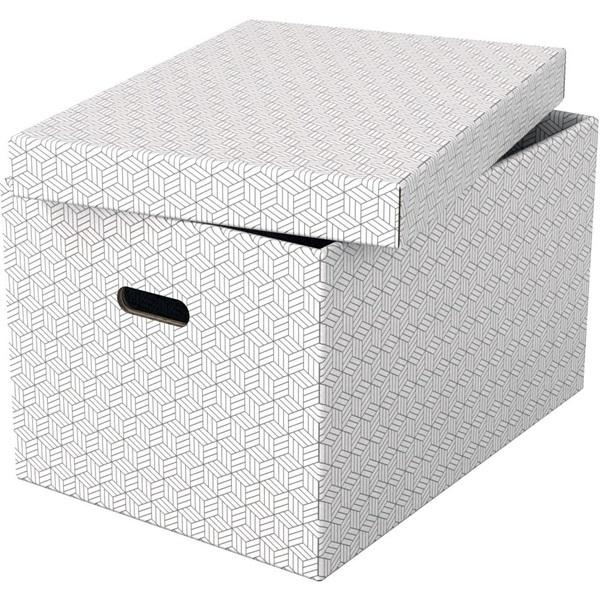 Home L méret 3db/csomag fehér tárolódoboz - 2