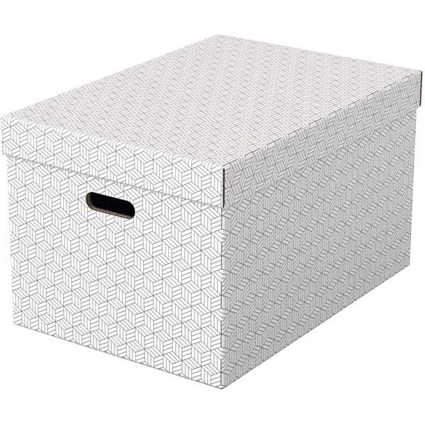 Home L méret 3db/csomag fehér tárolódoboz - 1