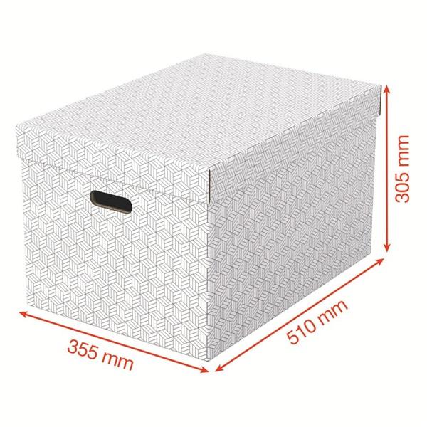 Home L méret 3db/csomag fehér tárolódoboz - 3