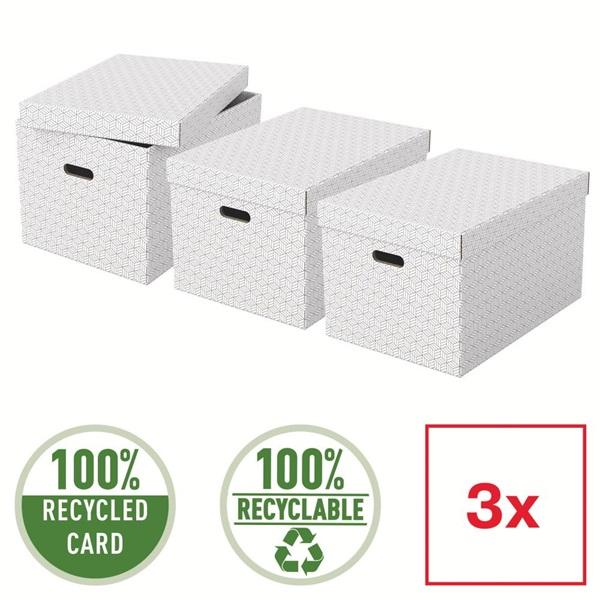 Home L méret 3db/csomag fehér tárolódoboz - 4