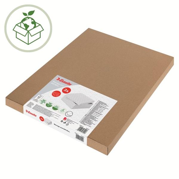 Home L méret 3db/csomag fehér tárolódoboz - 5