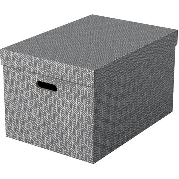 Home L méret 3db/csomag szürke tárolódoboz - 1