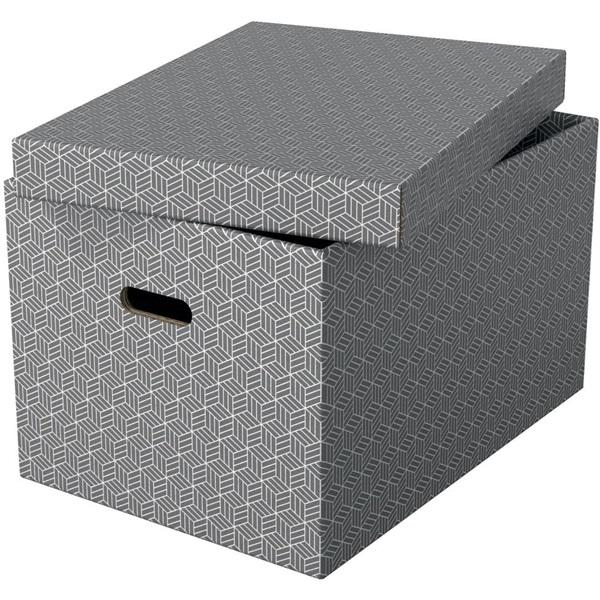 Home L méret 3db/csomag szürke tárolódoboz - 2