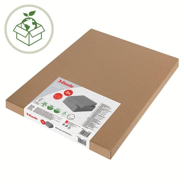 Home L méret 3db/csomag szürke tárolódoboz - 5