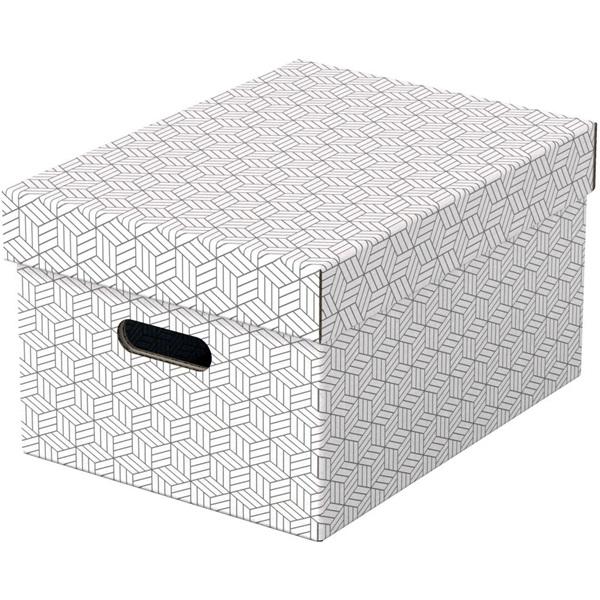 Home M méret 3db/csomag fehér tárolódoboz - 1