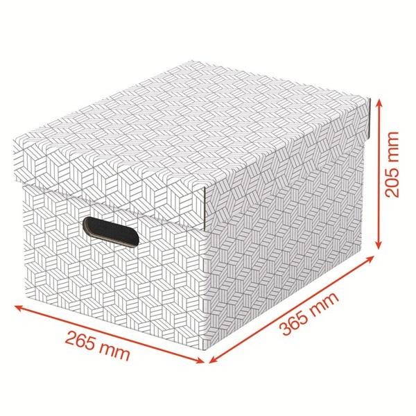 Home M méret 3db/csomag fehér tárolódoboz - 3