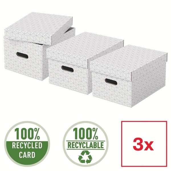Home M méret 3db/csomag fehér tárolódoboz - 4