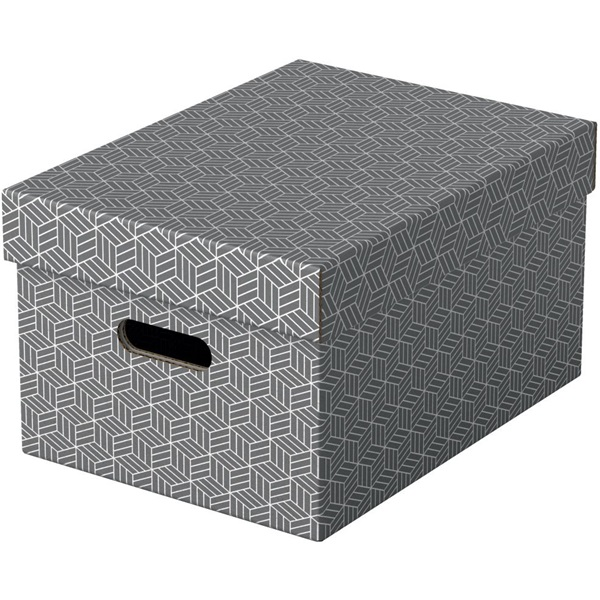 Home M méret 3db/csomag szürke tárolódoboz - 1
