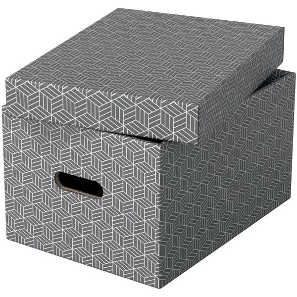 Home M méret 3db/csomag szürke tárolódoboz - 2