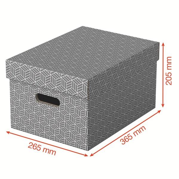 Home M méret 3db/csomag szürke tárolódoboz - 3
