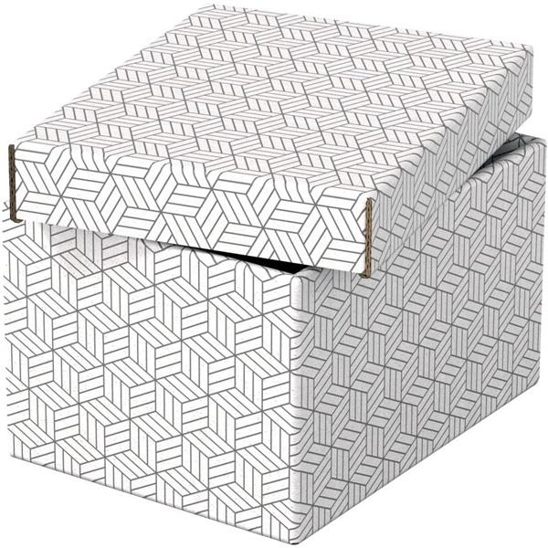 Home S méret 3db/csomag fehér tárolódoboz - 1
