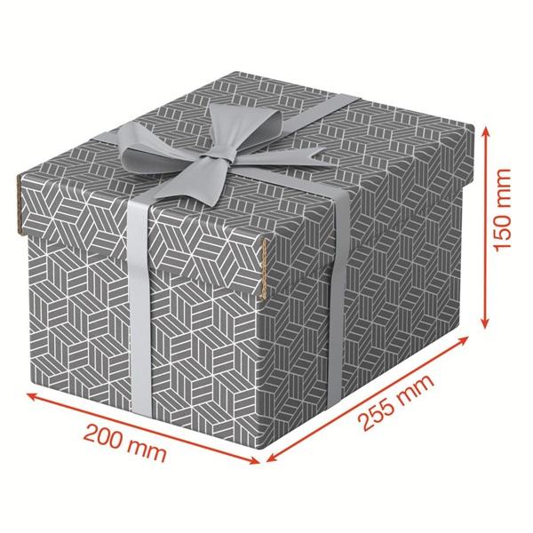Home S méret 3db/csomag szürke tárolódoboz - 4