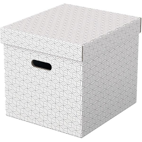 Home kocka alakú 3db/csomag fehér tárolódoboz - 1