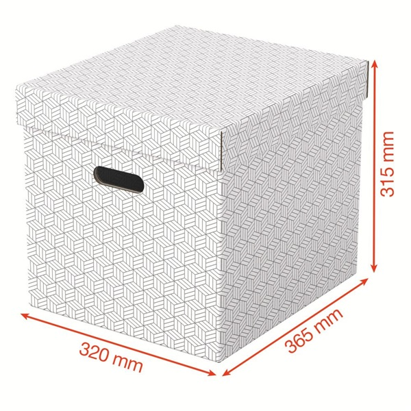 Home kocka alakú 3db/csomag fehér tárolódoboz - 3