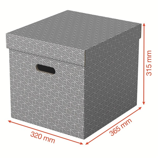 Home kocka alakú 3db/csomag tárolódoboz - 3