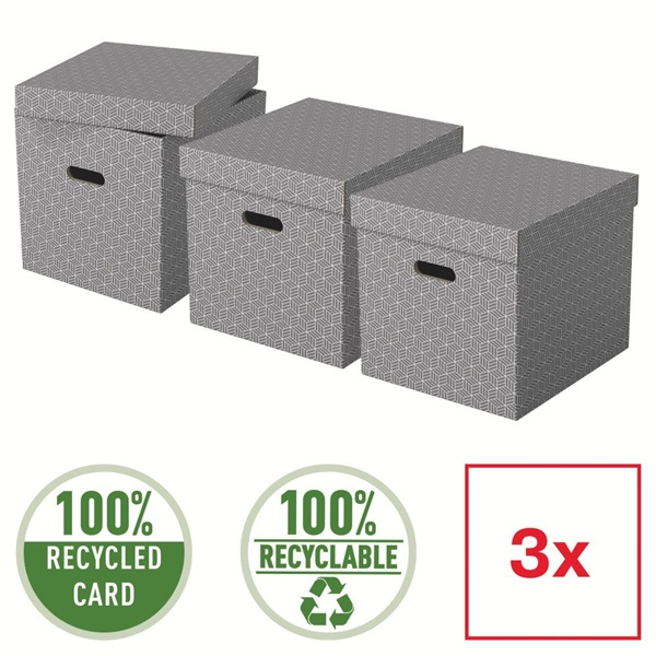 Home kocka alakú 3db/csomag tárolódoboz - 4