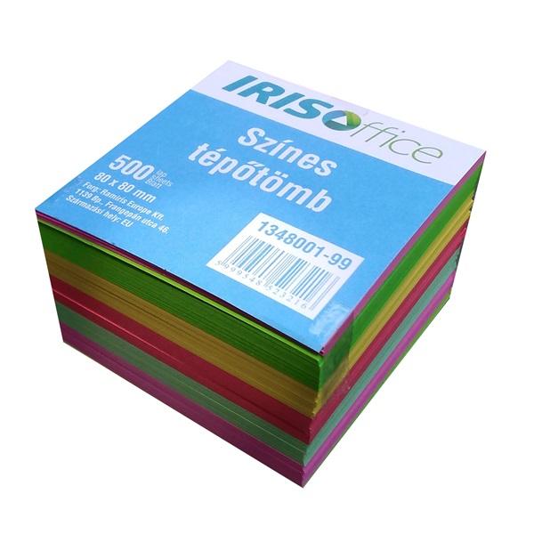 IRISOffice 80x80x50mm színes kockatömb - 1
