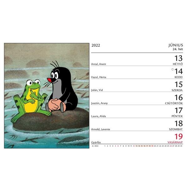 Kalendart 2022-es T058 Kisvakond álló asztali naptár - 2
