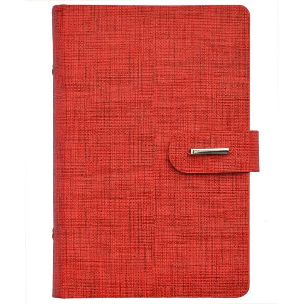 Kalendart Saturnus L432 műbőr piros gyűrűs kalendárium - 1