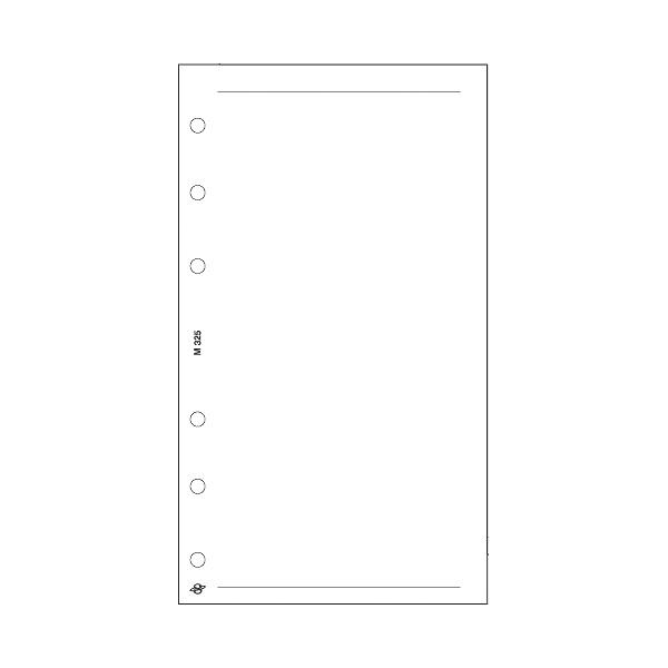 Kalendart Saturnus M325/F üres jegyzetlap gyűrűs naptár kiegészítő - 1