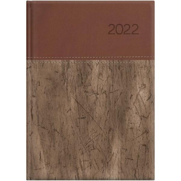 Kalendart United 2022-es U021 A5 napi beosztású barna határidőnapló - 1