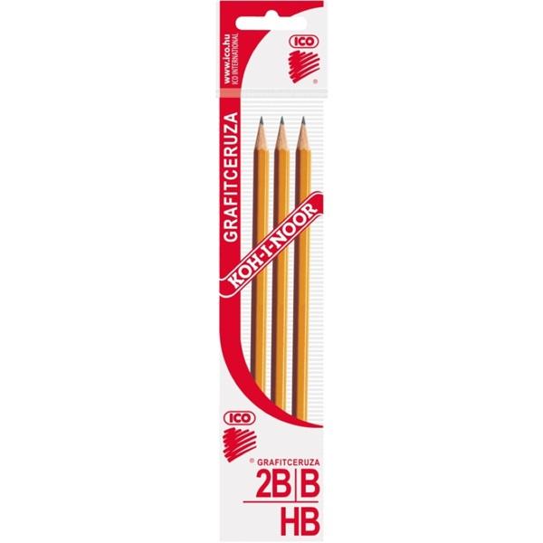 Koh-I-Noor 1770 3db HB/B/2B grafitceruza - 1