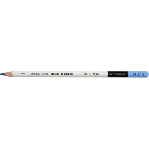 Koh-I-Noor 3411 D12 hengeres 7,5mm kék szövegkiemelő ceruza - 1