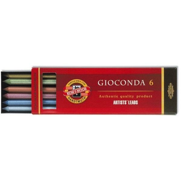 Koh-I-Noor 4380 Giconda Metallic 5,6mm 6 különféle színű irónbél - 1