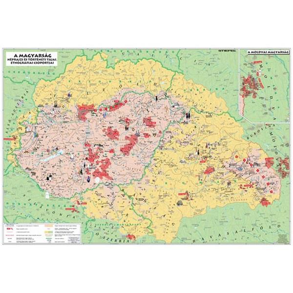 Könyöklő Magyarország néprajzi térkép duo - 1