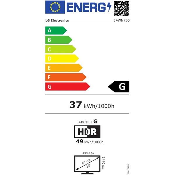 """LG 34"""" 34WN750-B LED IPS 21:9 Ultrawide HDMI monitor - 1"""